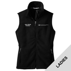 L219 - EMB - Ladies Fleece Vest