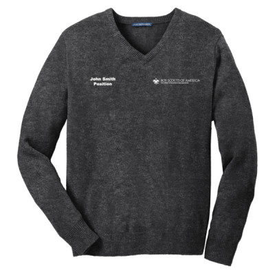 P123 - E010 - Logo 23 - SW300 - PTAC V Neck Sweater