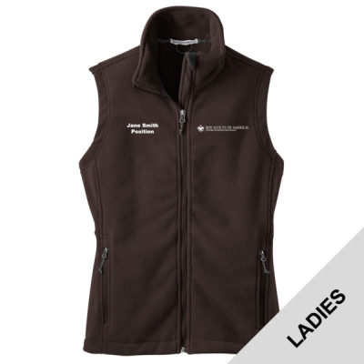 P123 - E010 - Logo 23 - L219 - PTAC Ladies Fleece Vest