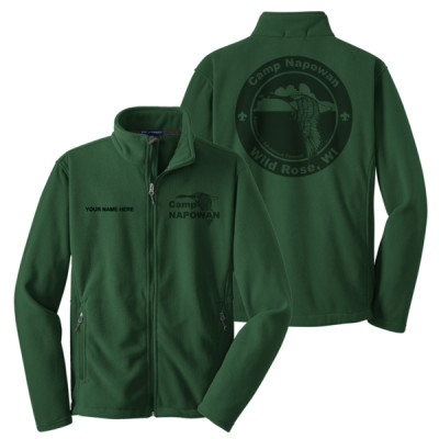 P123 - Camp Napowan - S16.1-2017 - Napowan Fleece Jacket with Laser Etch Back
